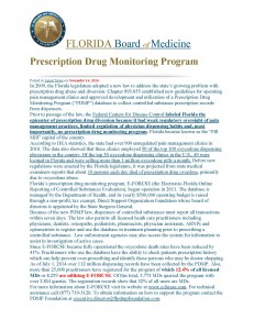 11-14 PDMP Usage Florida Board of Medicine